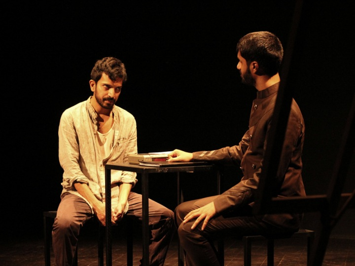 Prashant Prakash and Siddharth Kumar in Abhishek Saha's Under The Chestnut Tree. Photograph by Supraket Meshram